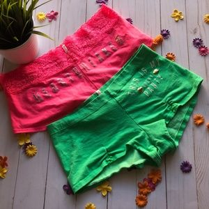 Pink By VS Low Rise Boy Shorts